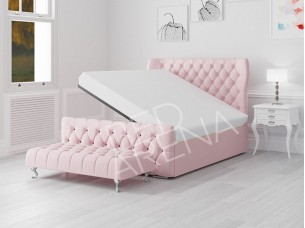 Dusty Pink Westminster Ottoman Storage Bed