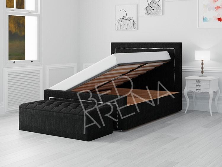 Black Calvin Ottoman Storage Bed