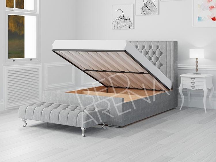 Balemo Ottoman Storage Bed Grey
