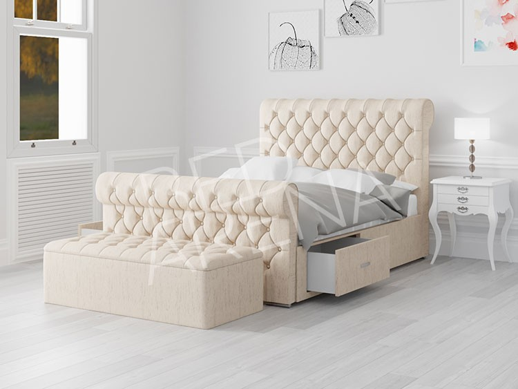 Cream Modena Super King Bed