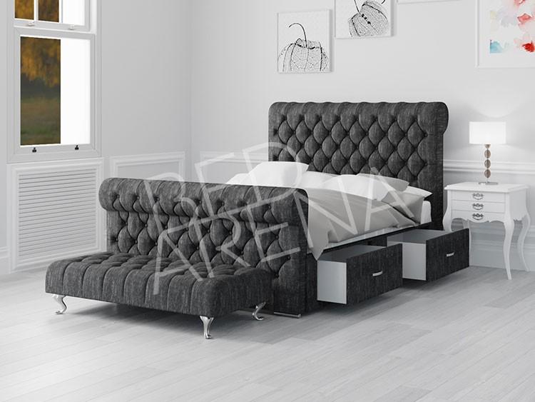 Dark Grey Modena King Bed