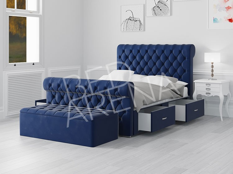 Blue Modena Small Double Bed