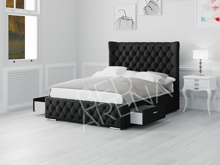 Buckingham Single Bed Black