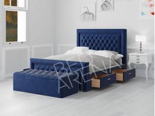 Royal Blue Cambridge Single Bed