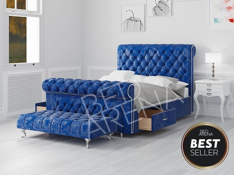 Vancouver Super King Bed Blue
