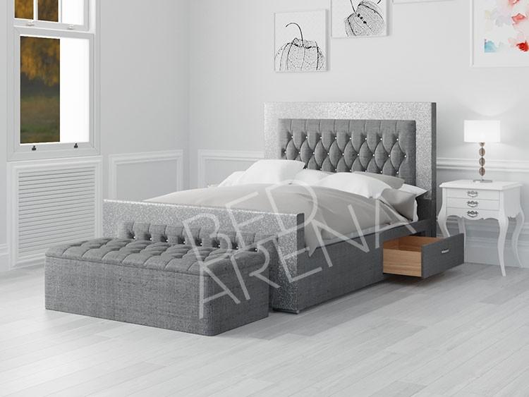 Grey Venezia King Bed
