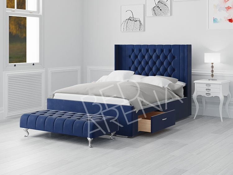 Blue Balemo King Bed