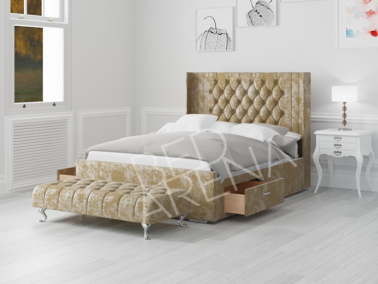 Gold Balemo Small Double Bed