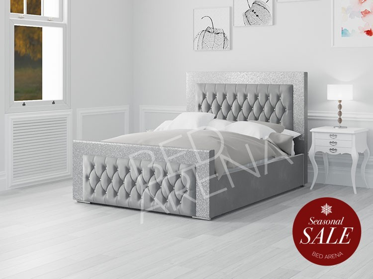 Venezia Bed Ice Silver and Silver