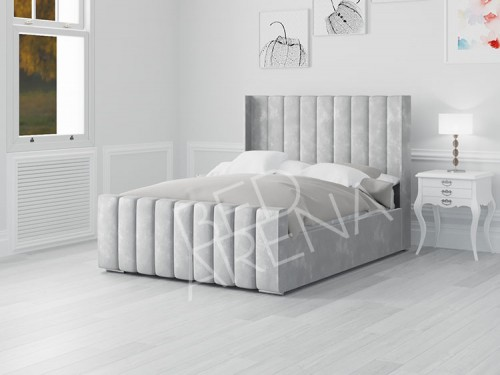 Nimes Bed Ice Silver in Plush