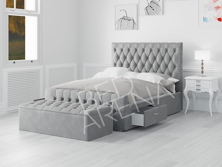 Boston King Bed silver