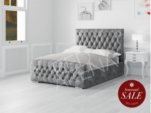 Boston Bed- Dark Silver