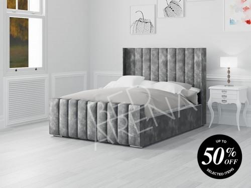 Nimes Bed - Dark Silver