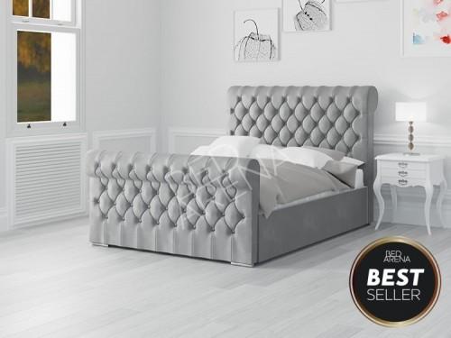 Modena Bed- Dark SIlver