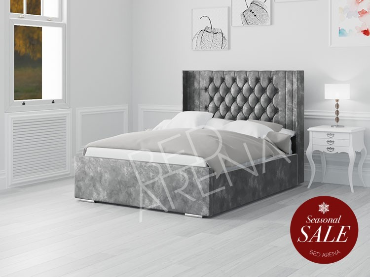Balemo Bed Dark Silver/grey