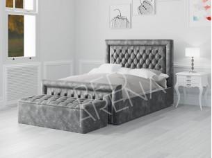 Cambridge bed dark silver/grey