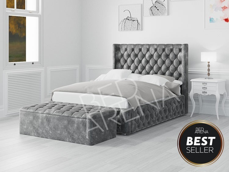 Frankfurt dark Silver/grey Bed