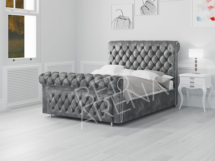 Vancouver Bed dark Silver/grey