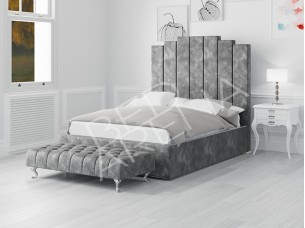 Dark Silver/grey Manhattan bed