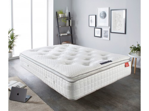 Image of the 2000 Comfort Pocket Memory Mattress in a room.