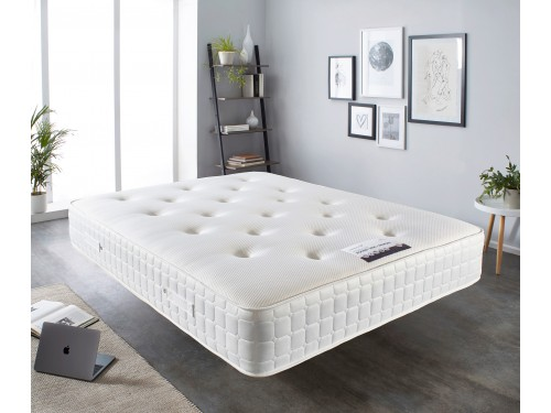 Image of the Essential Pocket 1000 + Memory Mattress in a room.