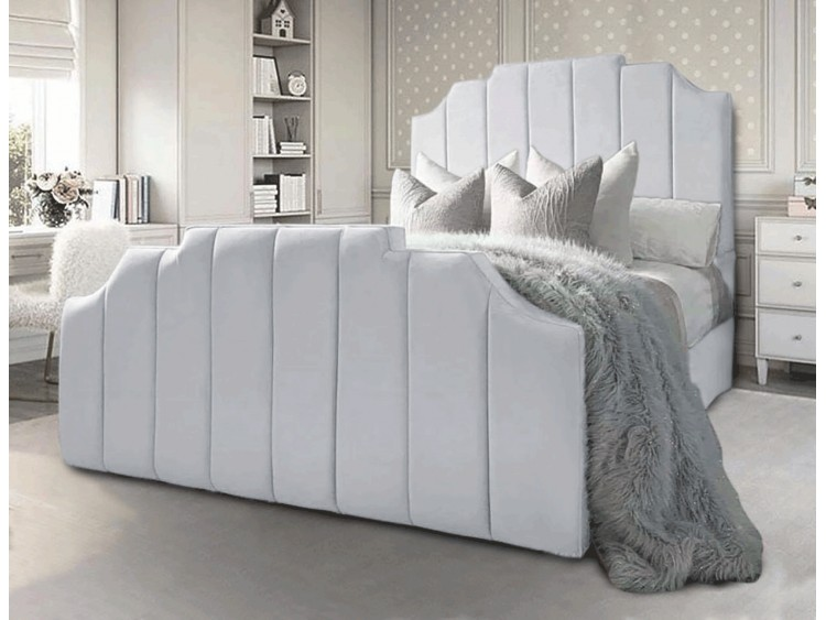 Crown Bed in bedroom.
