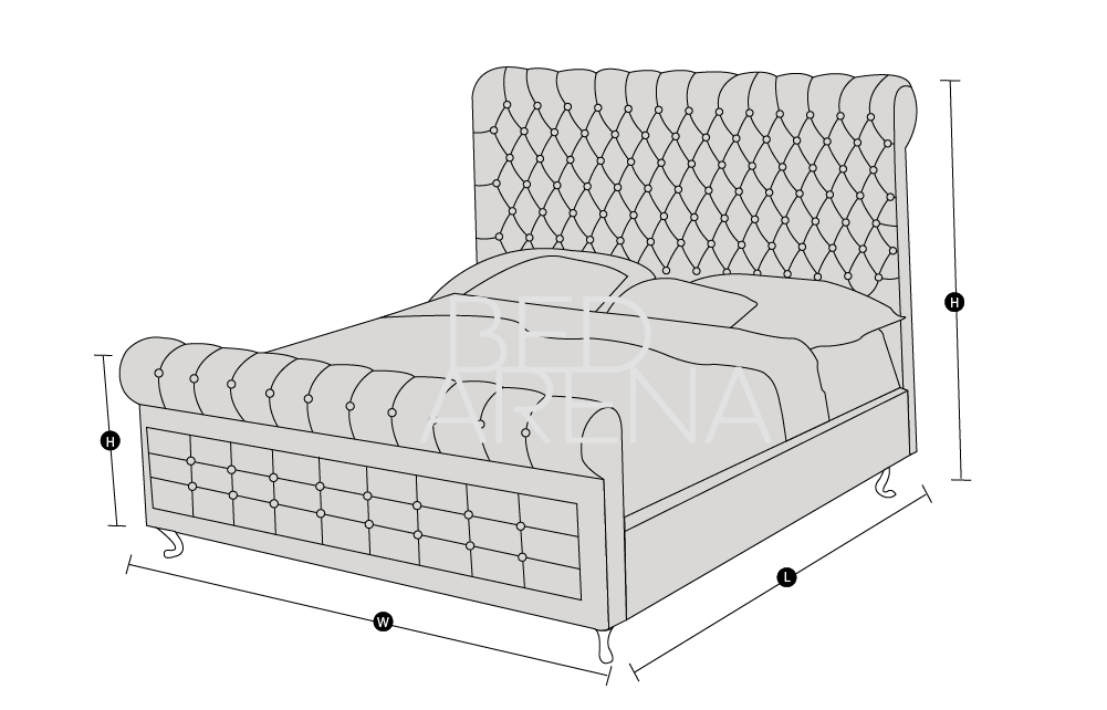 Bed Arena Technical Drawing Buckingham Range