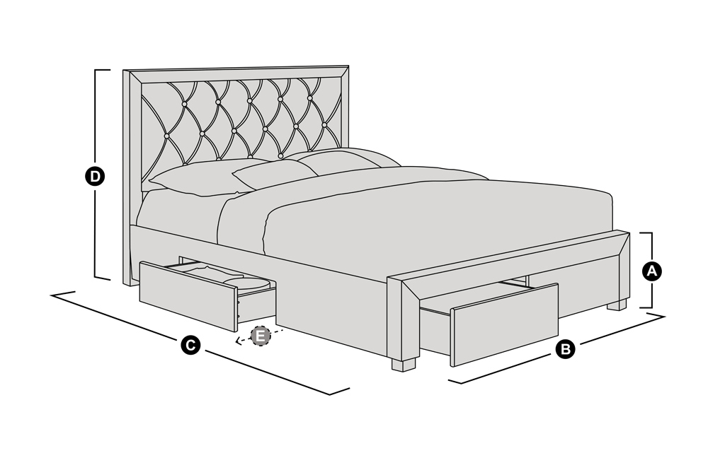 Bed outline drawing